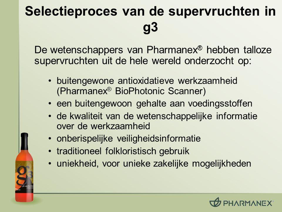 Selectieproces van de supervruchten in g3