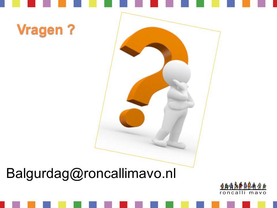 Vragen Balgurdag@roncallimavo.nl