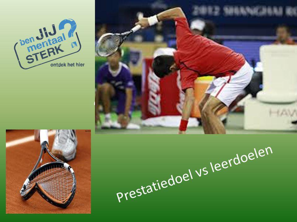 Mentaal Prestatiedoel vs leerdoelen Tennis is een mentaal spelletje