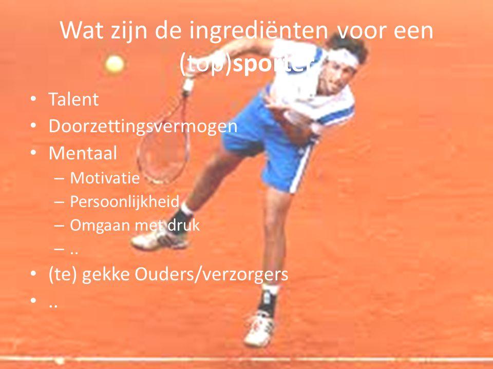Wat zijn de ingrediënten voor een (top)sporter