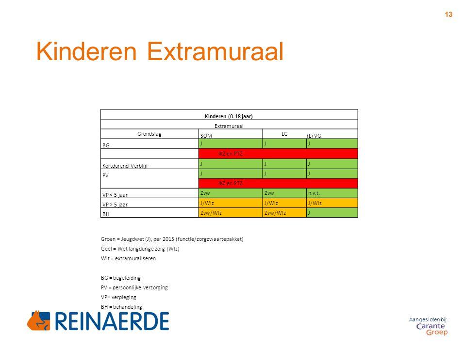 Kinderen Extramuraal Kinderen (0-18 jaar) Extramuraal Grondslag SOM LG