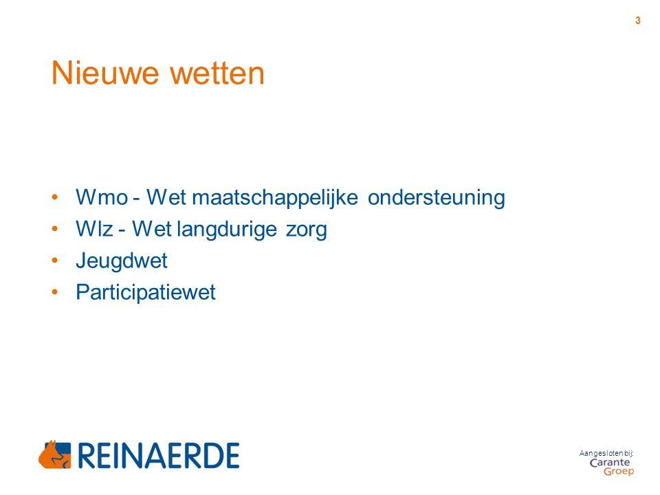 Nieuwe wetten Wmo - Wet maatschappelijke ondersteuning