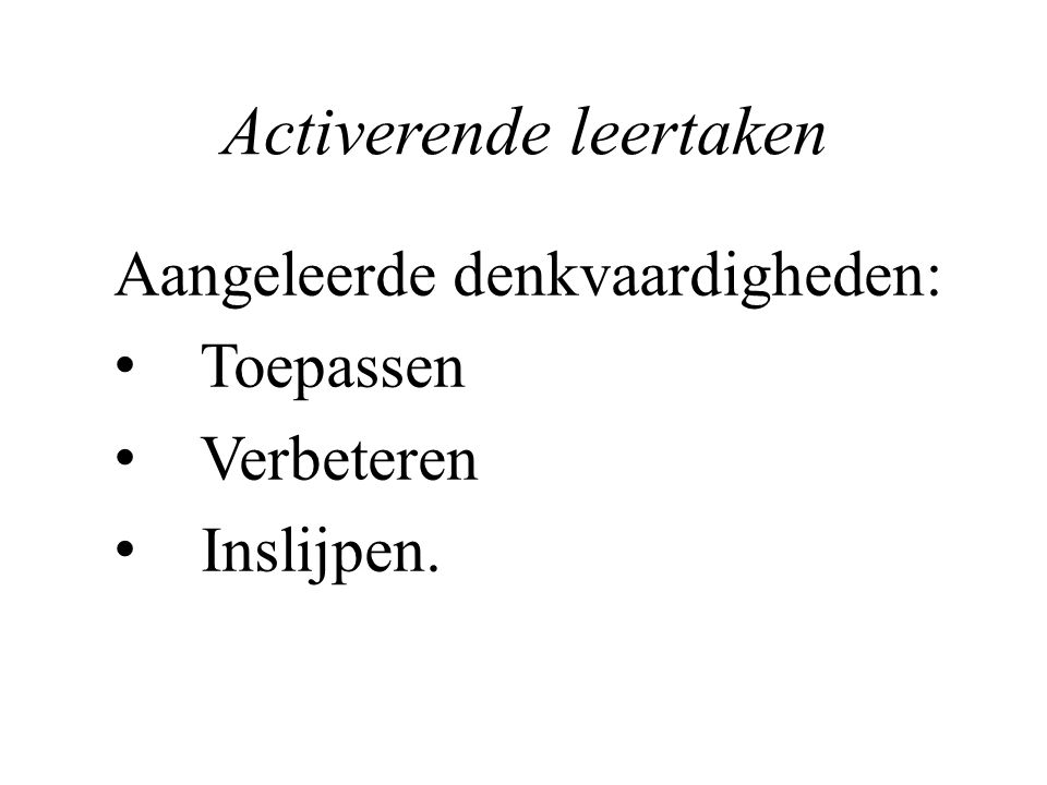 Activerende leertaken