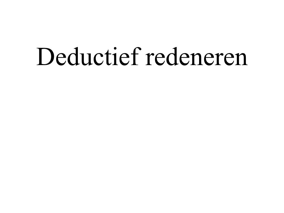 Deductief redeneren