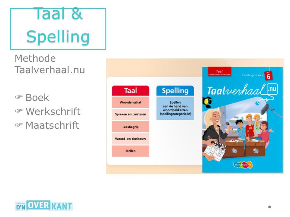 Taal & Spelling Methode Taalverhaal.nu Boek Werkschrift Maatschrift