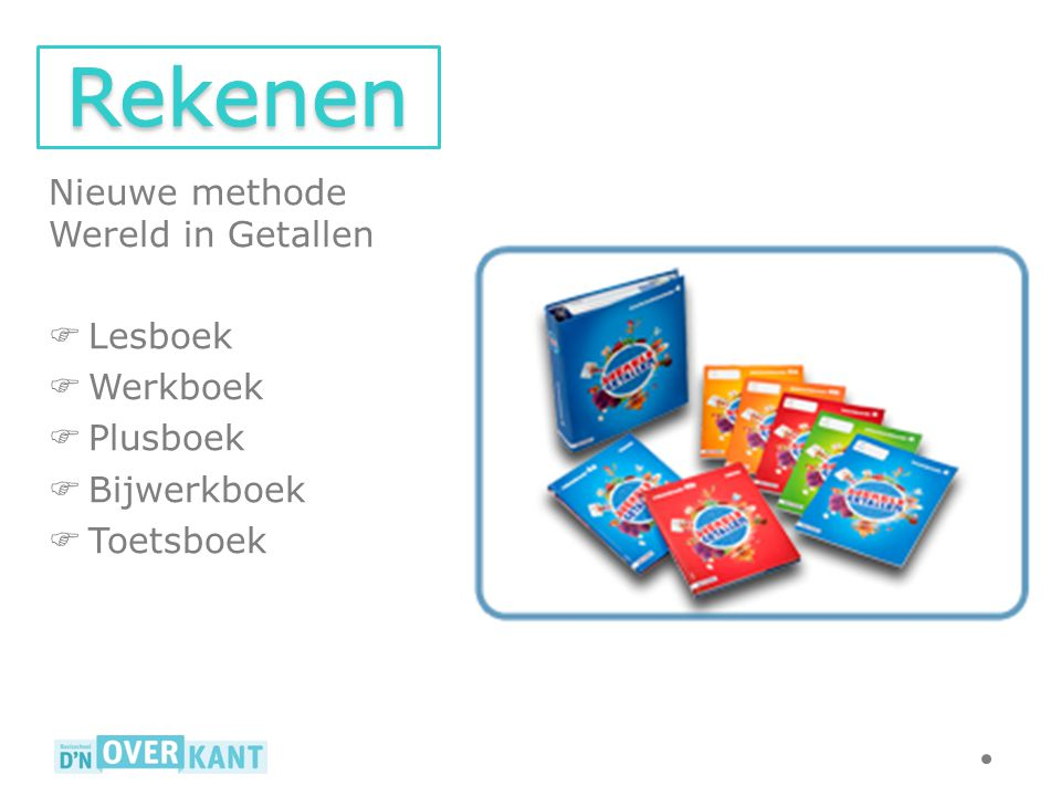 Rekenen Nieuwe methode Wereld in Getallen Lesboek Werkboek Plusboek
