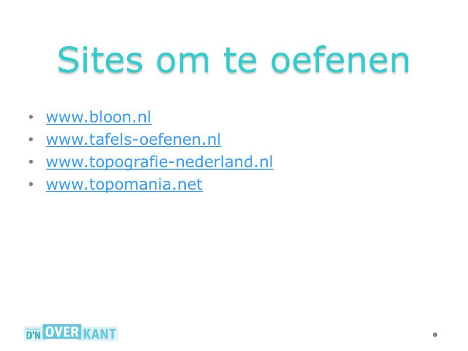 Sites om te oefenen www.bloon.nl www.tafels-oefenen.nl