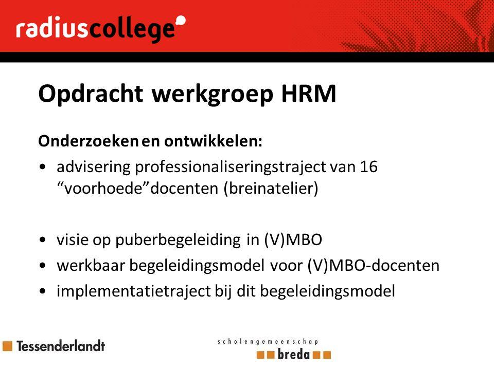 Opdracht werkgroep HRM