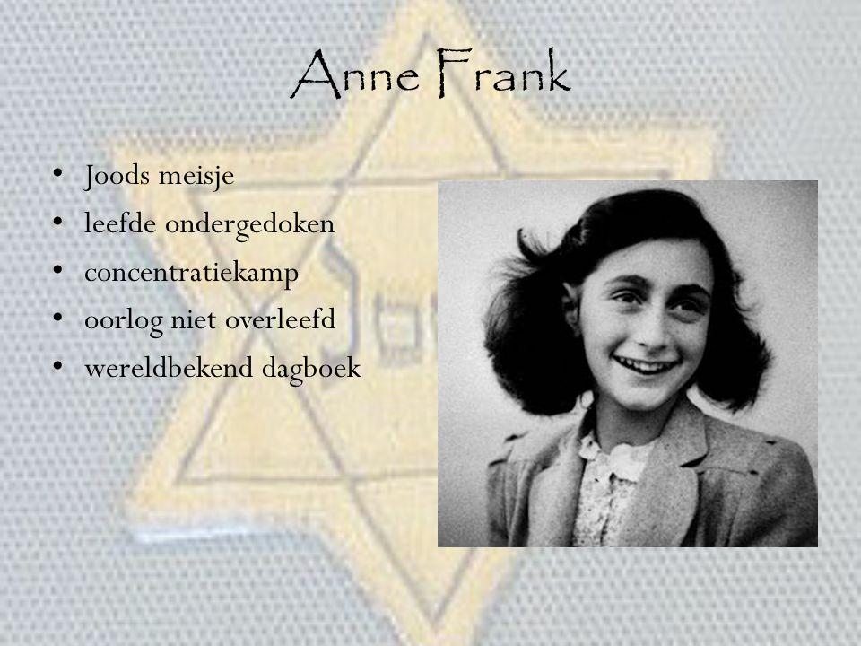Anne Frank Joods meisje leefde ondergedoken concentratiekamp
