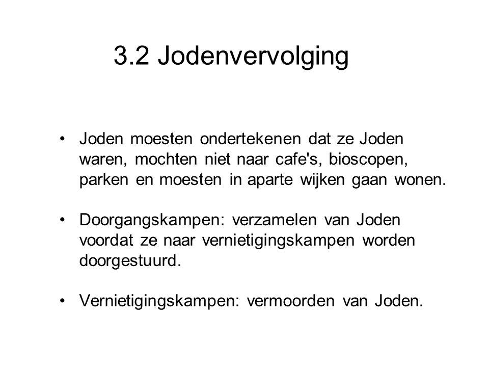 3.2 Jodenvervolging