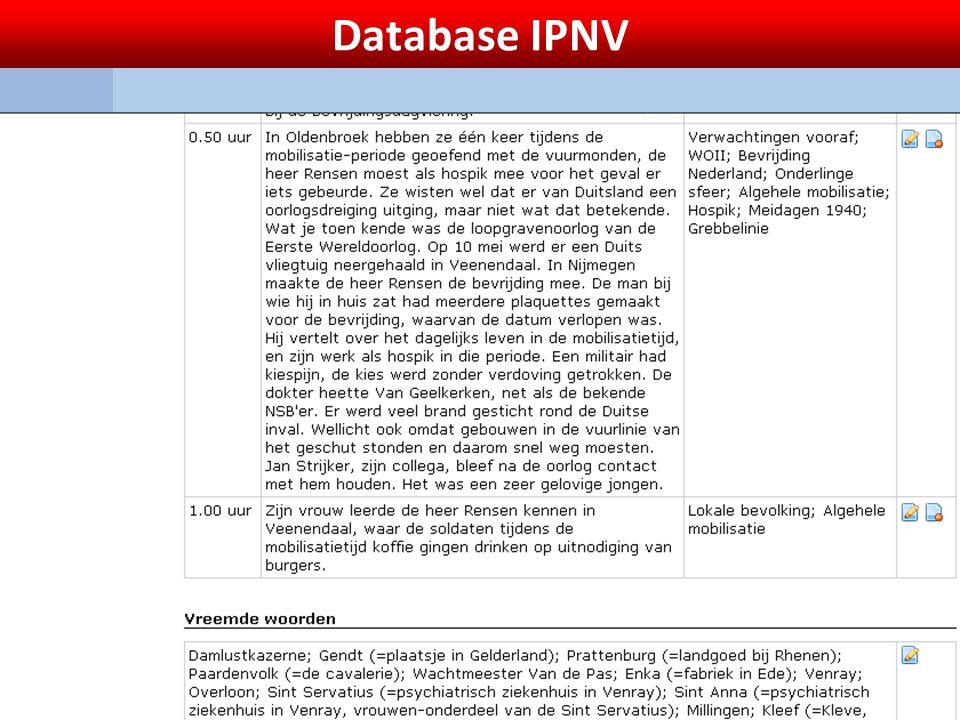 Database IPNV