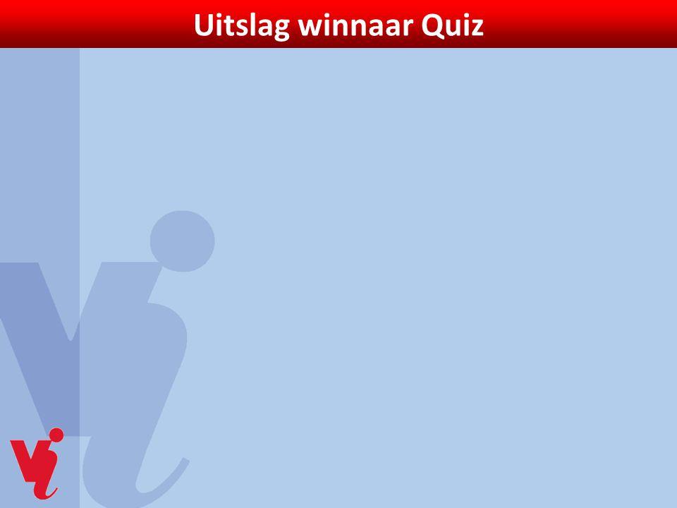 Uitslag winnaar Quiz