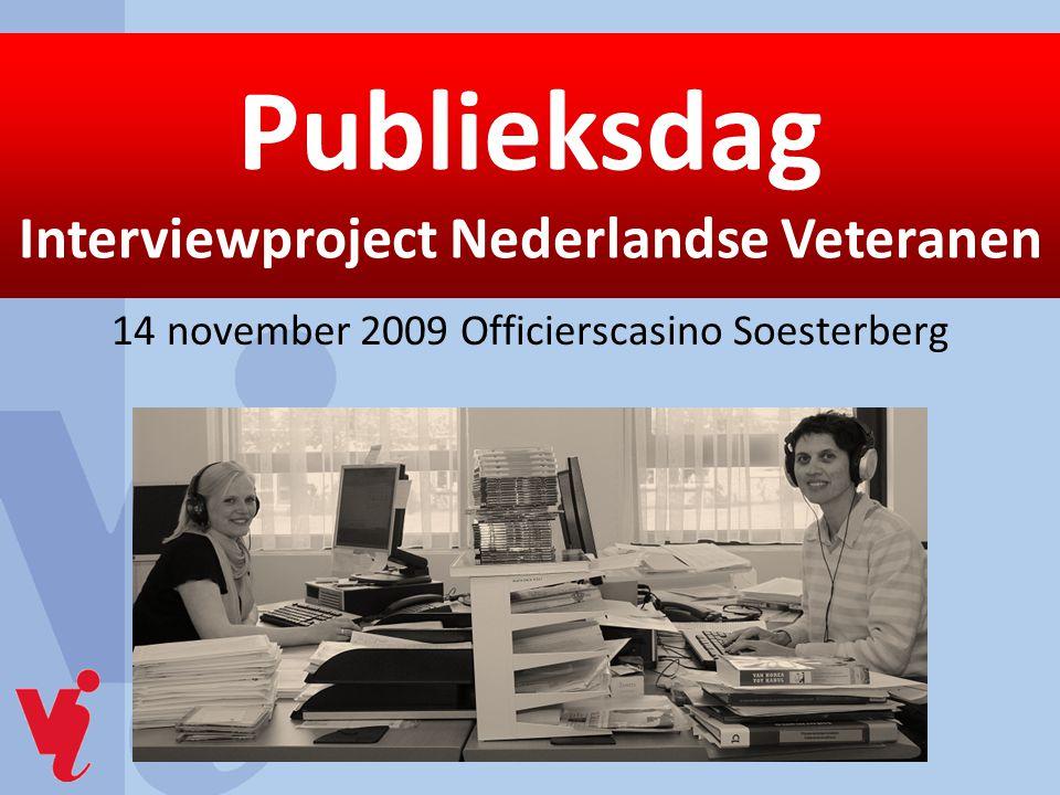 Publieksdag Interviewproject Nederlandse Veteranen