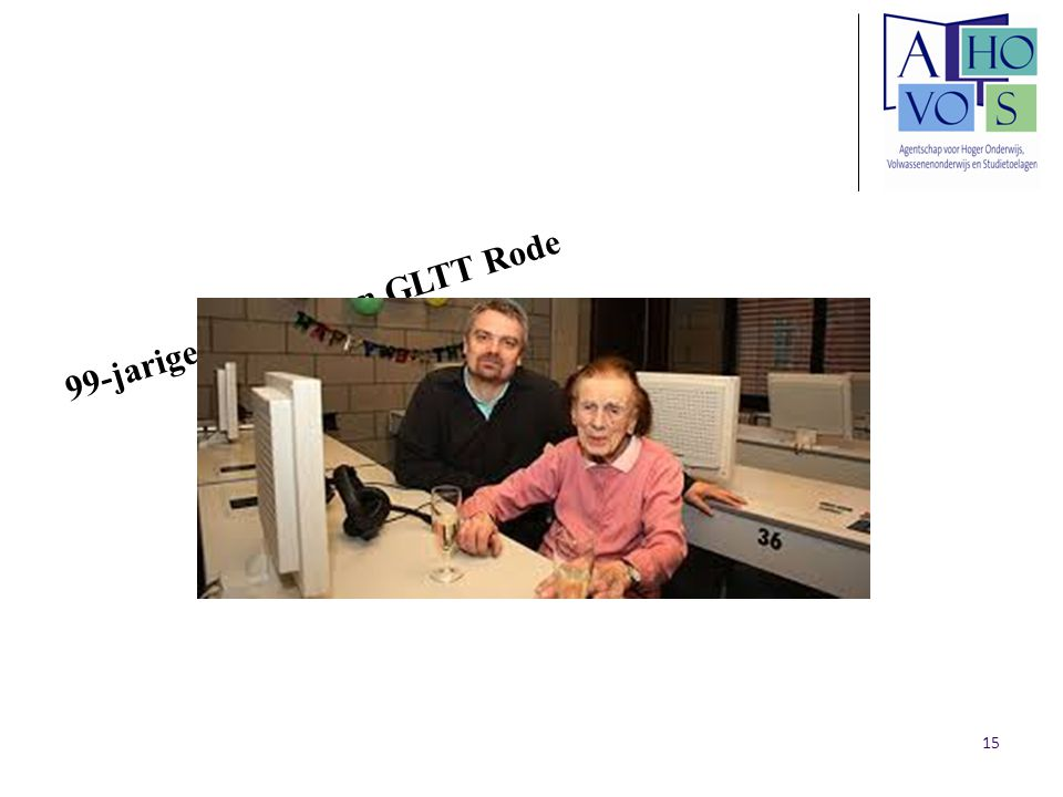 99-jarige cursiste aan GLTT Rode