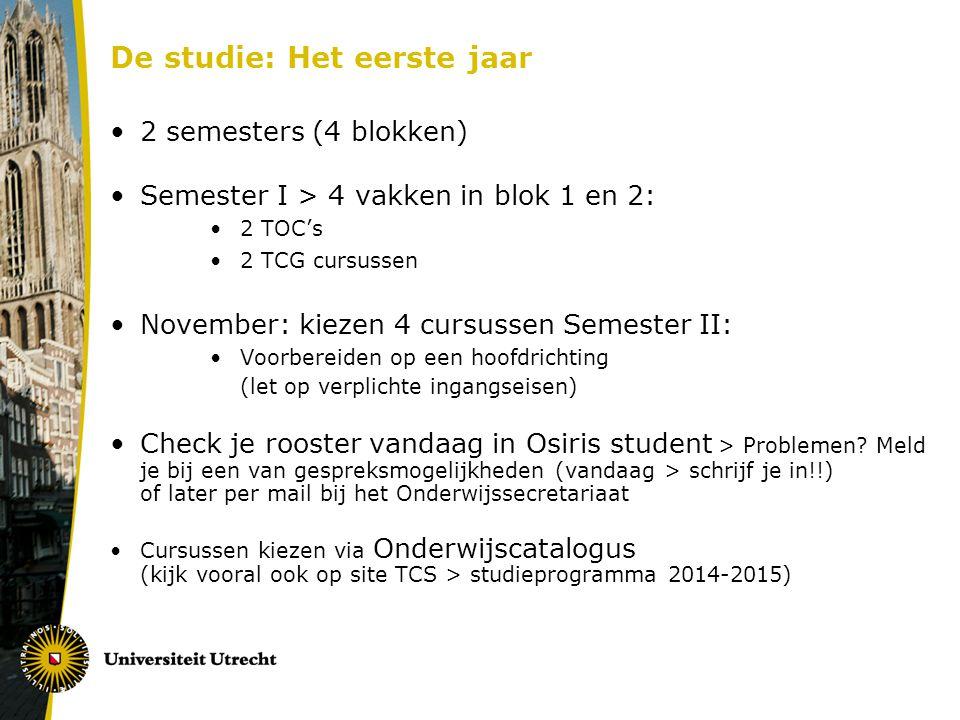 De studie: Het eerste jaar