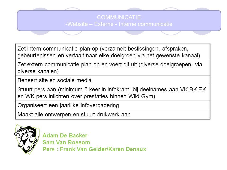 Website – Externe - Interne communicatie