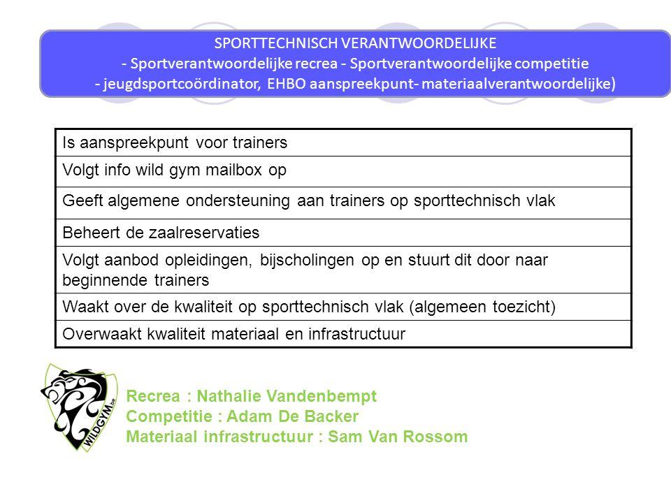 jeugdsportcoördinator, EHBO aanspreekpunt- materiaalverantwoordelijke)