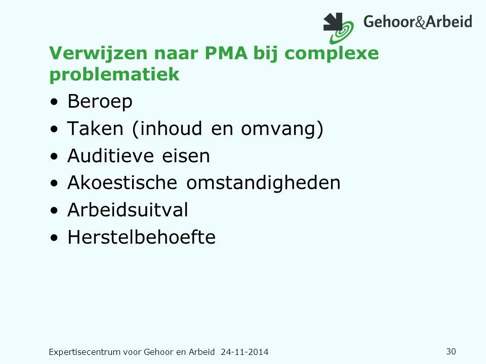 Verwijzen naar PMA bij complexe problematiek