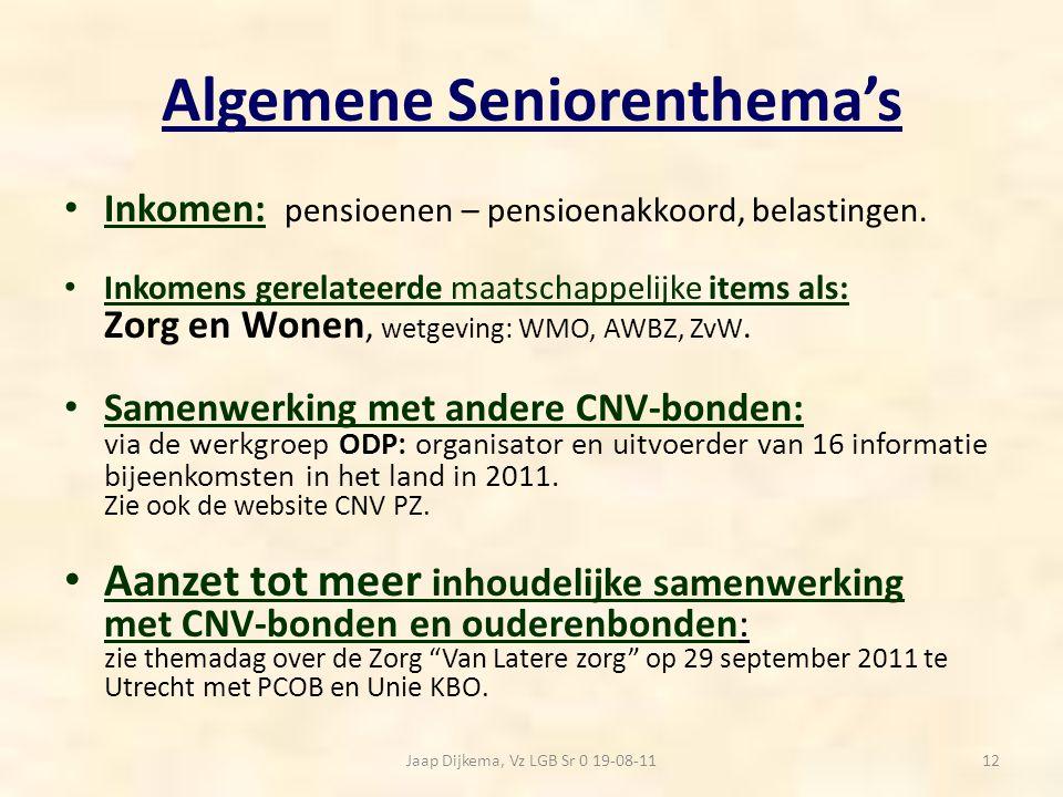 Algemene Seniorenthema's