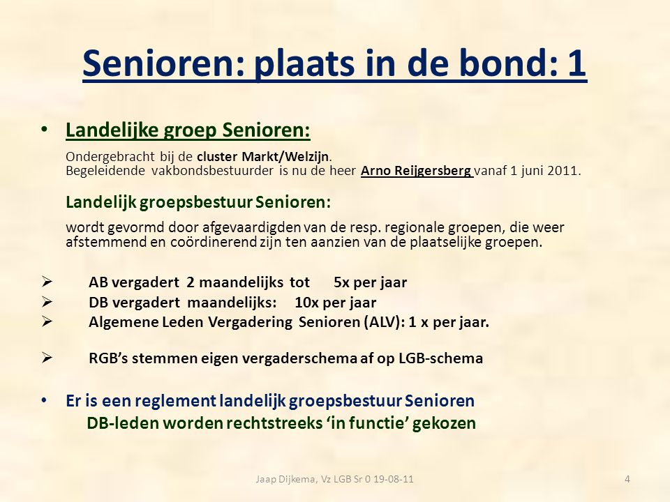 Senioren: plaats in de bond: 1