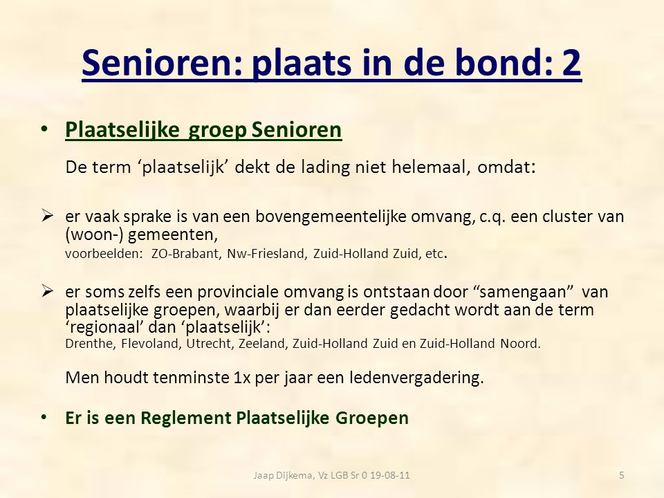 Senioren: plaats in de bond: 2