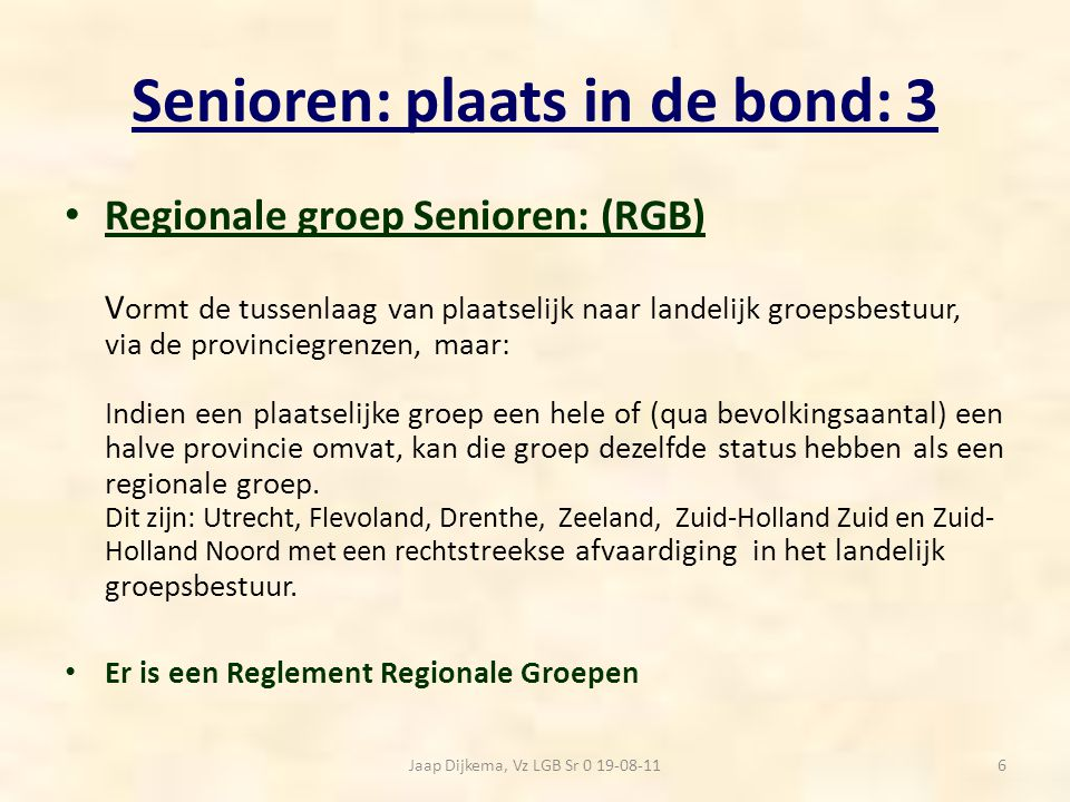 Senioren: plaats in de bond: 3