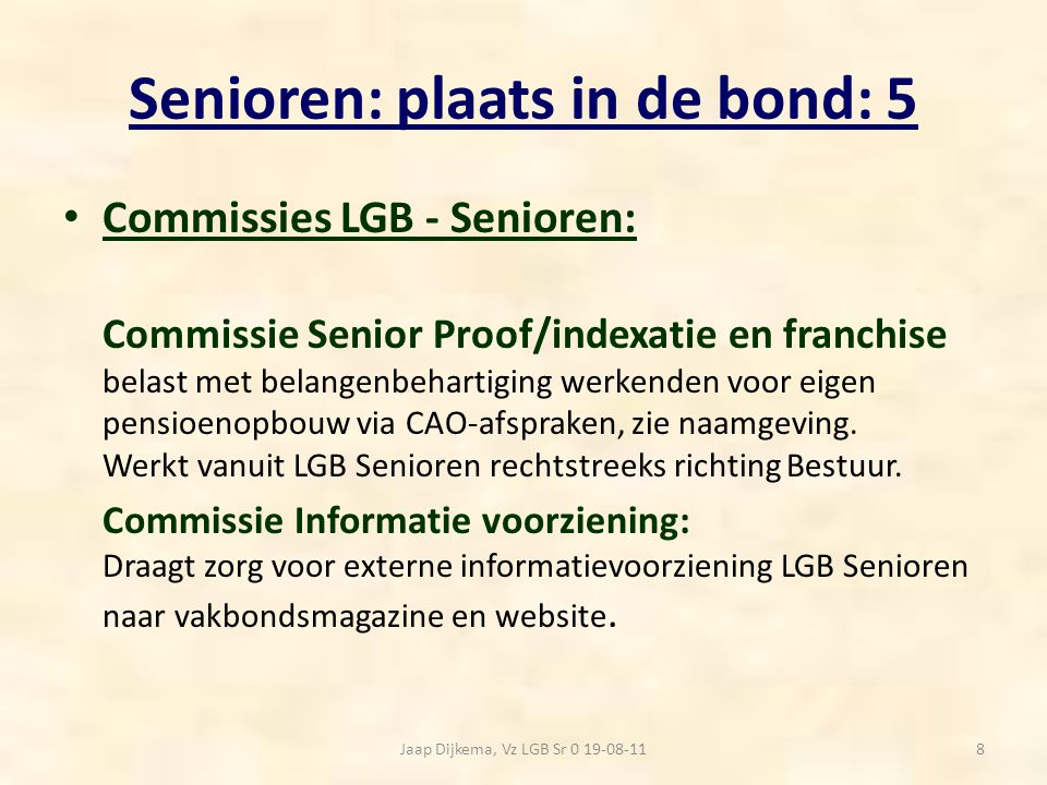 Senioren: plaats in de bond: 5