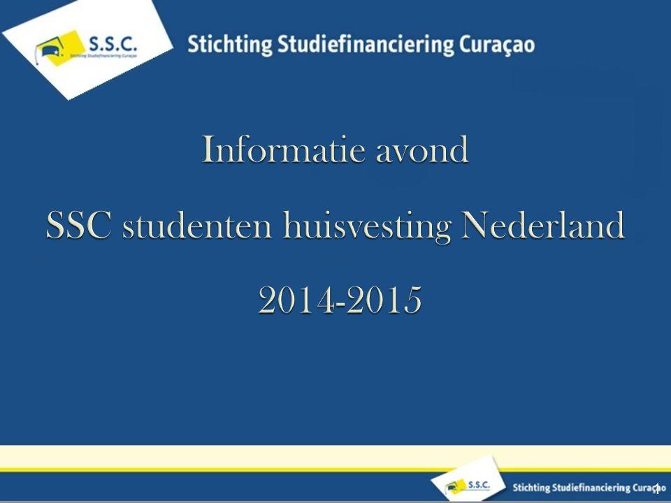 SSC studenten huisvesting Nederland