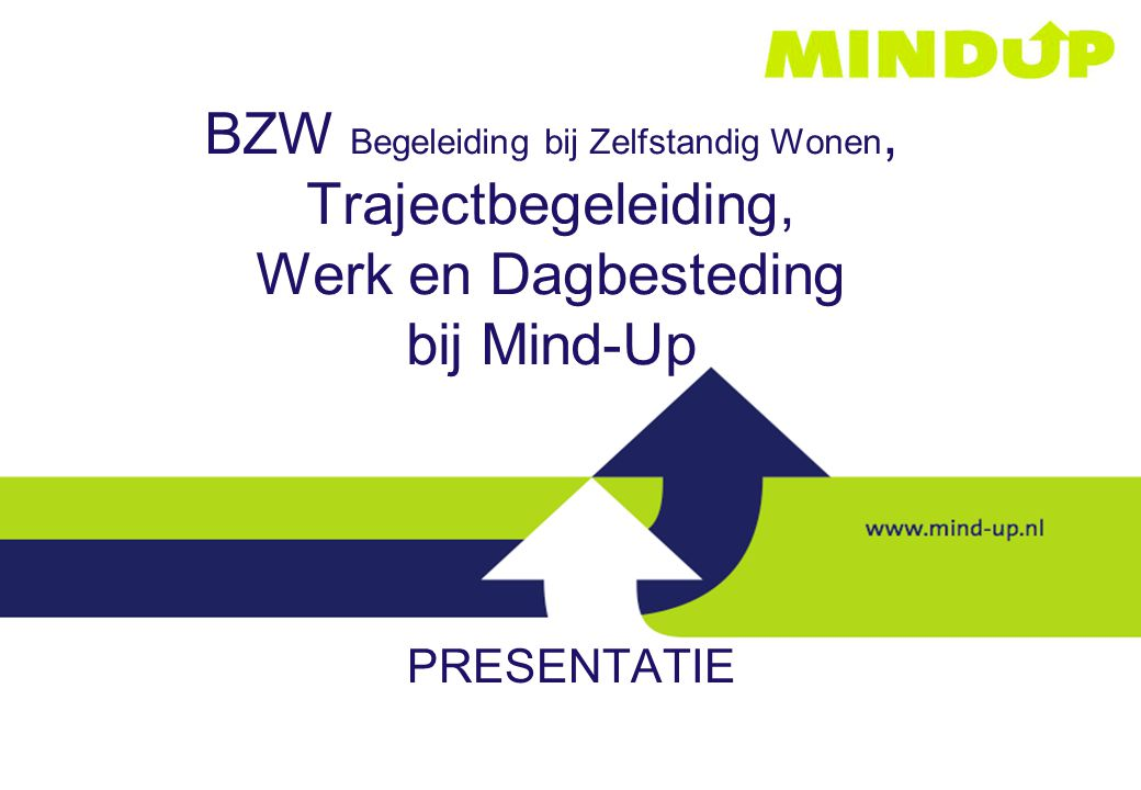 BZW Begeleiding bij Zelfstandig Wonen, Trajectbegeleiding, Werk en Dagbesteding bij Mind-Up