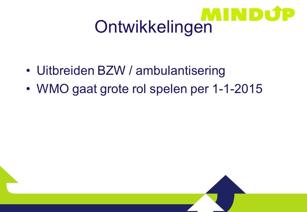 Ontwikkelingen Uitbreiden BZW / ambulantisering