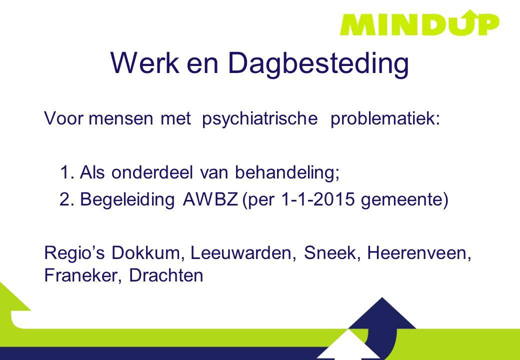 Werk en Dagbesteding Voor mensen met psychiatrische problematiek: