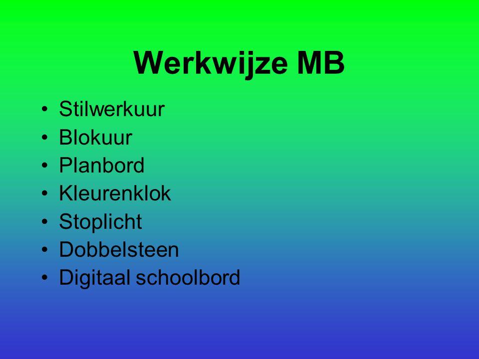 Werkwijze MB Stilwerkuur Blokuur Planbord Kleurenklok Stoplicht