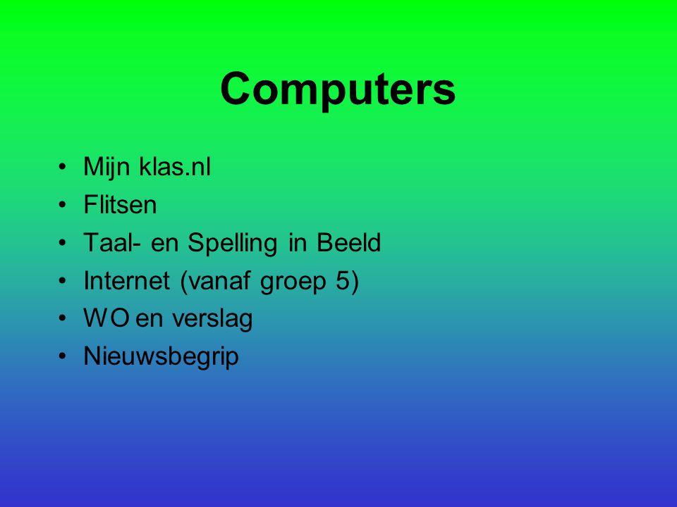 Computers Mijn klas.nl Flitsen Taal- en Spelling in Beeld