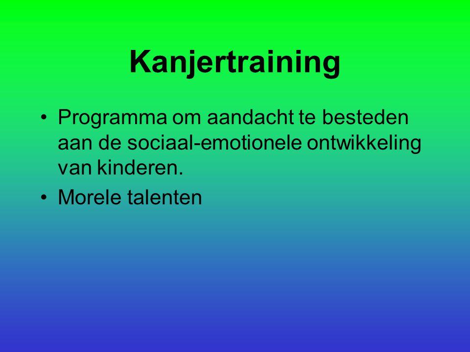 Kanjertraining Programma om aandacht te besteden aan de sociaal-emotionele ontwikkeling van kinderen.