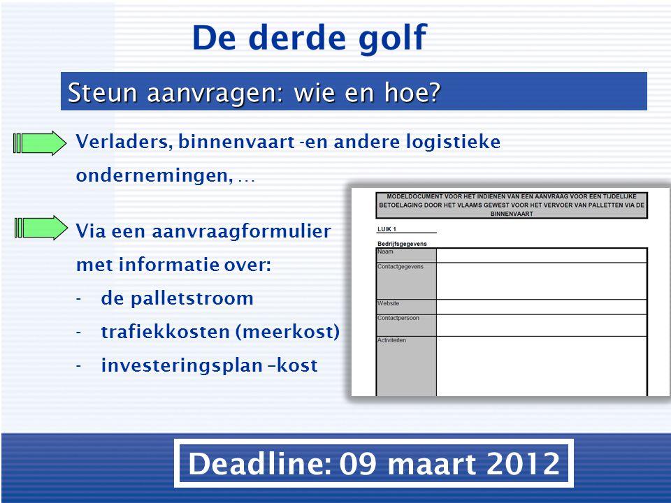 Deadline: 09 maart 2012 Steun aanvragen: wie en hoe