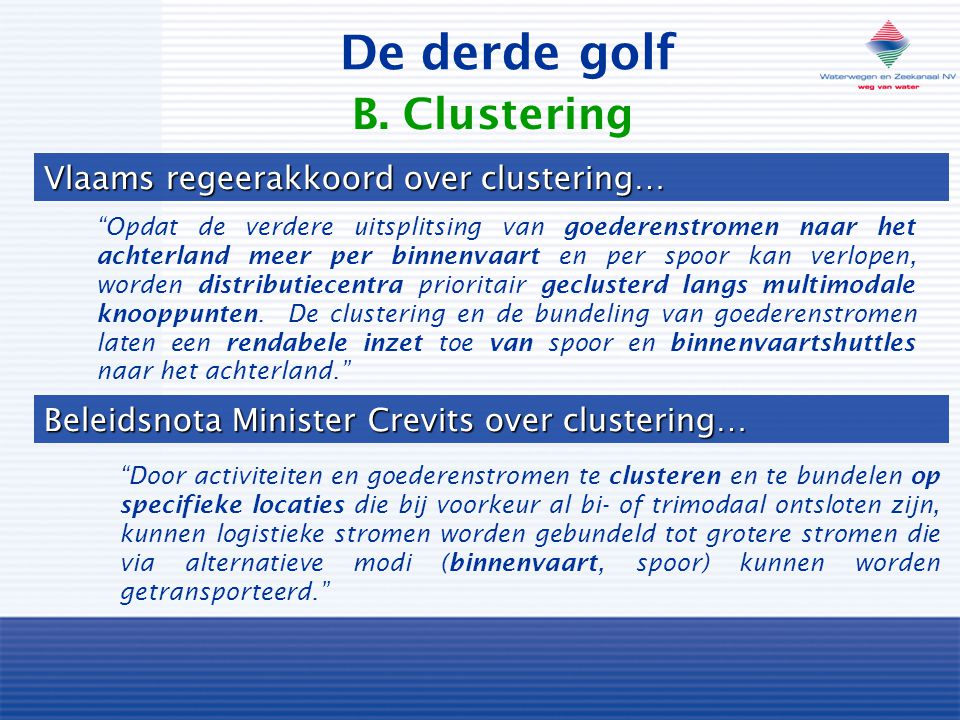 De derde golf B. Clustering Vlaams regeerakkoord over clustering…