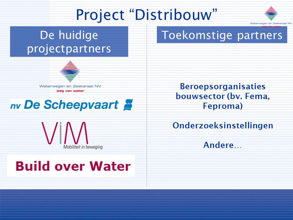 Project Distribouw De huidige projectpartners Toekomstige partners