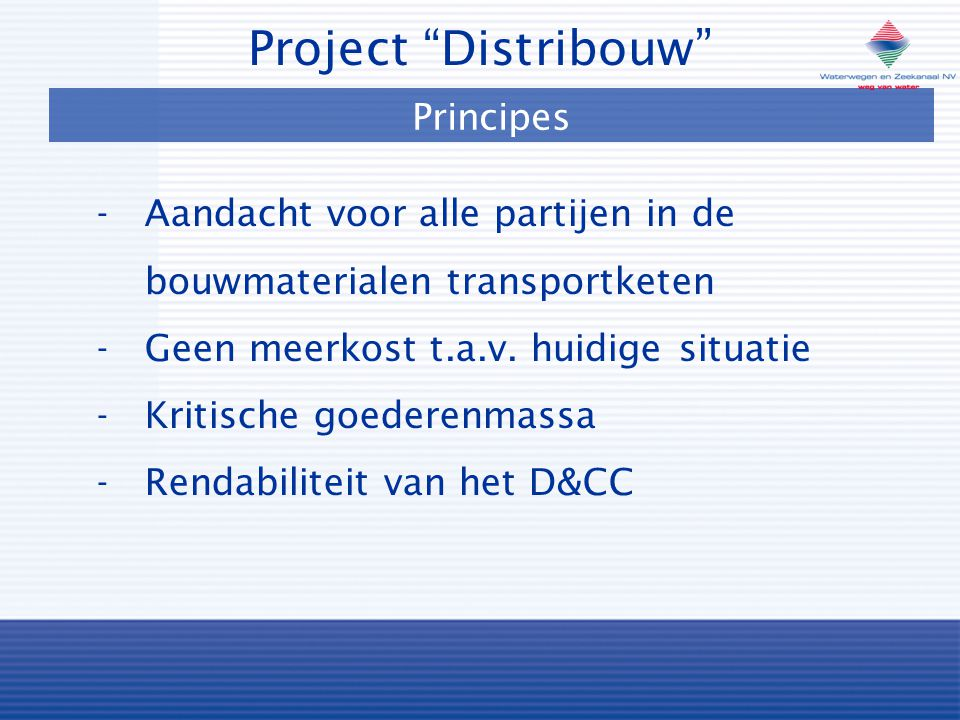 Project Distribouw Principes