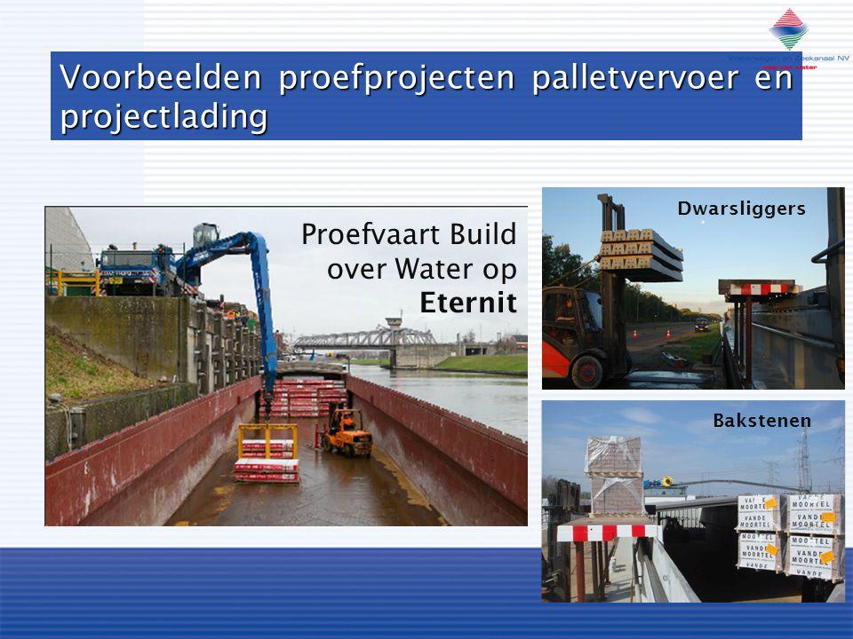 Voorbeelden proefprojecten palletvervoer en projectlading