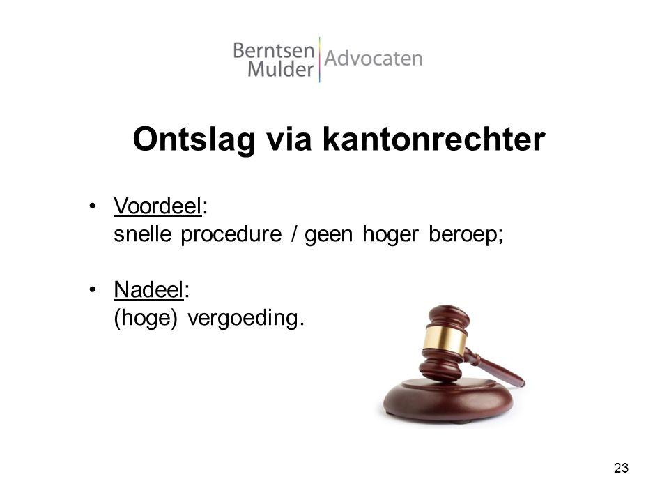 Ontslag via kantonrechter