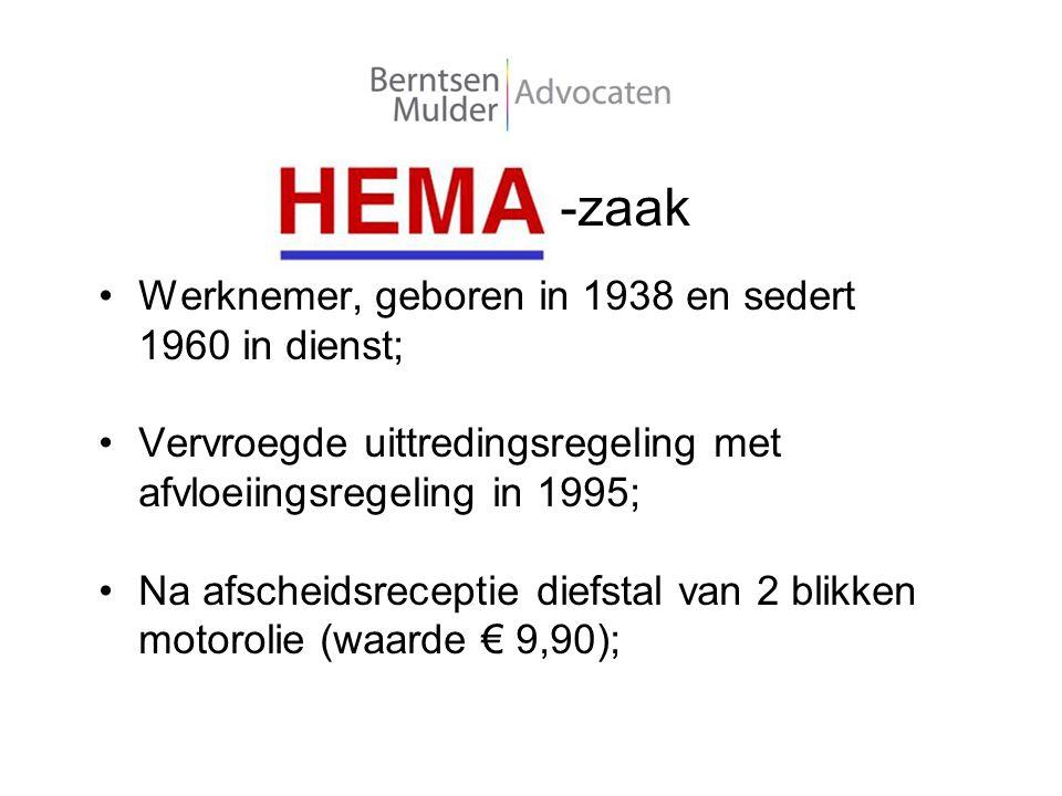 -zaak Werknemer, geboren in 1938 en sedert 1960 in dienst;