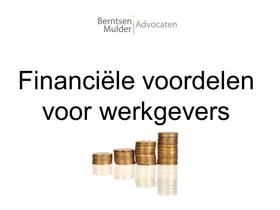 Financiële voordelen voor werkgevers