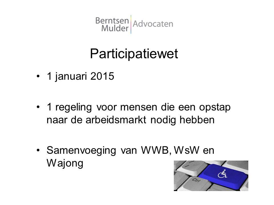 Participatiewet 1 januari 2015
