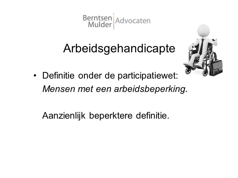 Arbeidsgehandicapte Definitie onder de participatiewet: