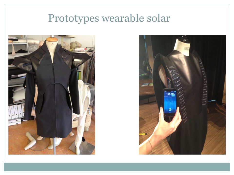 Prototypes wearable solar