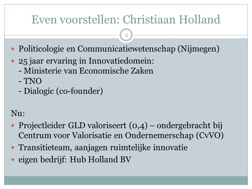 Even voorstellen: Christiaan Holland