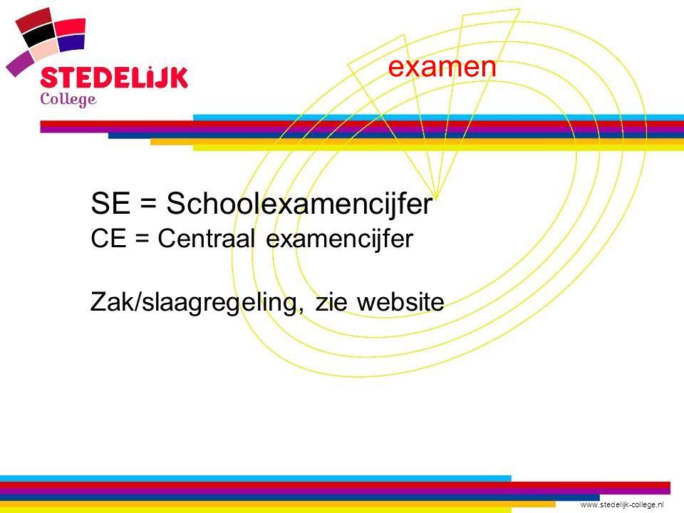 SE = Schoolexamencijfer