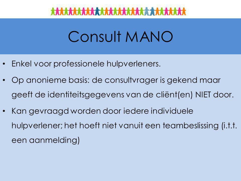 Consult MANO Enkel voor professionele hulpverleners.