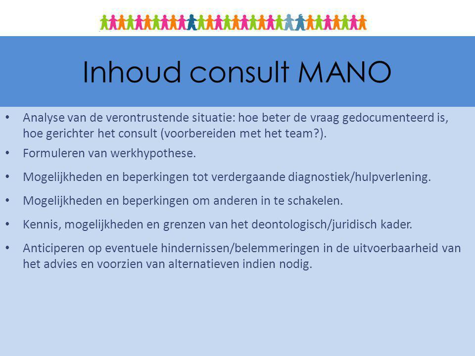 Inhoud consult MANO