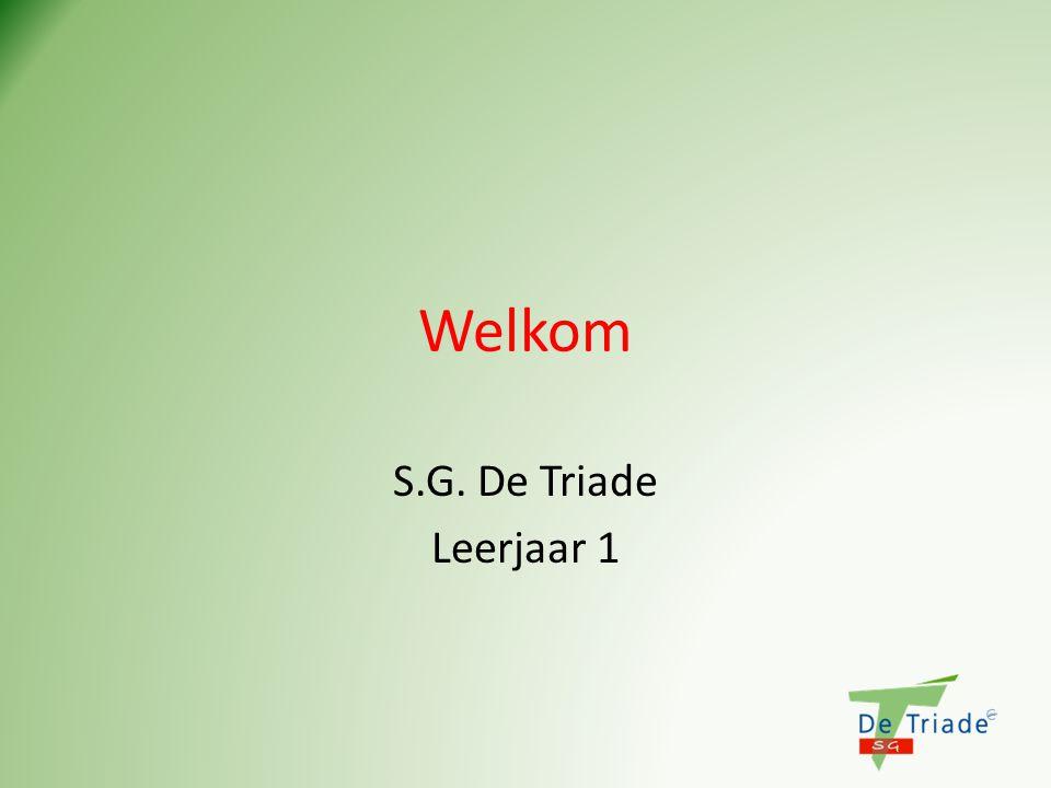 Welkom S.G. De Triade Leerjaar 1